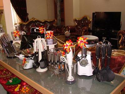 تزیین آشپزخانه عروس,تزیین جهیزیه عروس