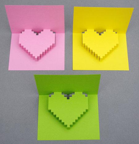 طرز ساخت کارت پیکسلی قلبی, ساخت کارت تبریک