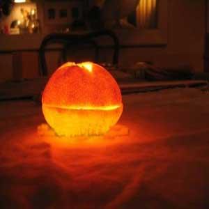 آموزش شمع سازی با پوست پرتقال