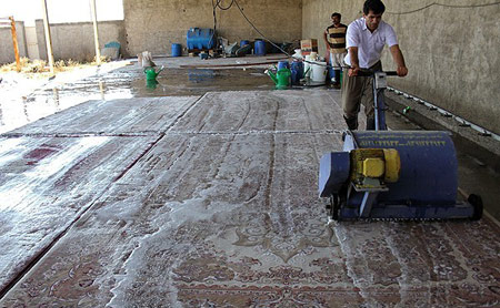 شستشوی فرش در خانه, مراحل شستشوی فرش