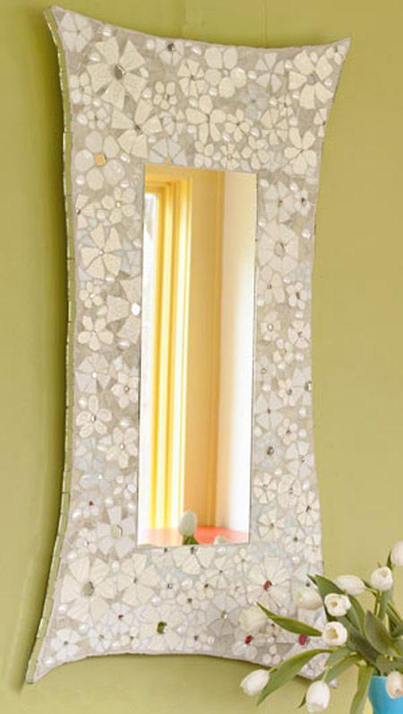 ساخت آینه با ظرف های شکسته,تزیین آینه