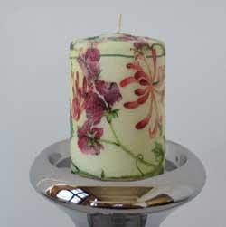 تزیین شمع با نگین اتریشی ایده هایی برای دکوپاژ روی شمع
