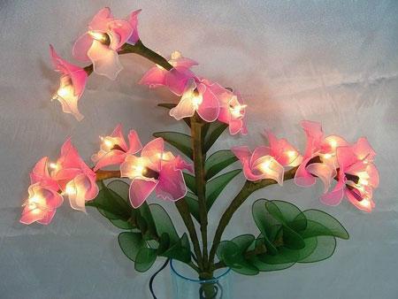 آموزش ساخت آباژور,مدل های گل های جورابی