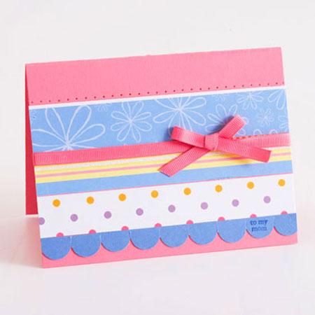 طرح گل روی ورق ایده هایی برای ساخت کارت تبریک به مناسبت روز مادر