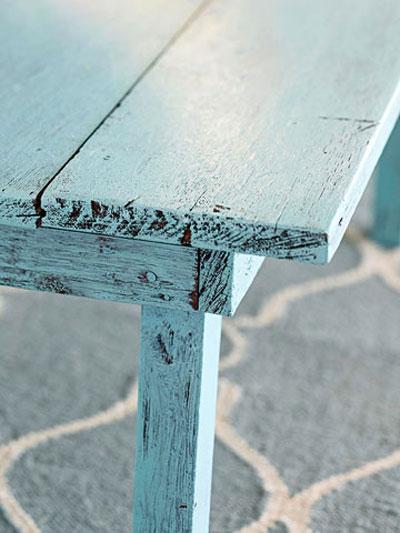 رنگ کردن میز به سبک قدیمی, نحوه رنگ کردن میز
