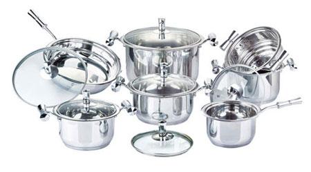 تمیز کردن ظروف استیل,پاک کردن بدنه ظروف استیل