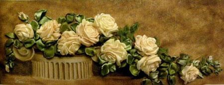 آموزش گل روبانی (گل رز)