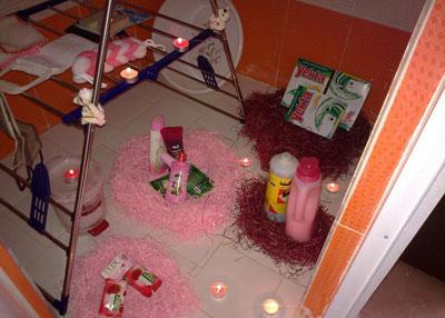 تزیین حمام و دستشویی عروس, حمام و دستشویی عروس