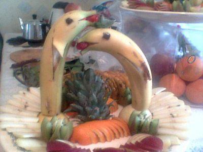 تزیین موز,تزیین موز به شکل دلفین