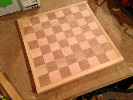 ساخت صفحه شطرنج,نحوه ساخت صفحه شطرنج چوبی