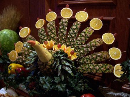 آموزش میوه آرایی,تزیین میوه شب یلدا