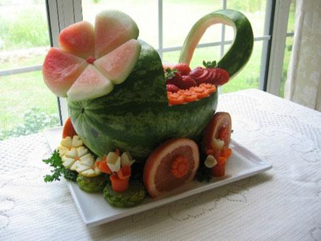 هندوانه شب یلدا,تزیین میوه شب یلدا