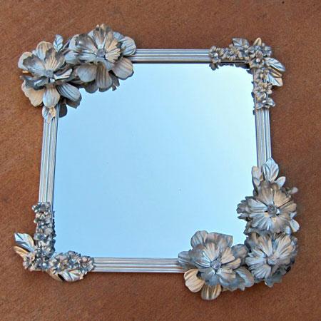 تزیین قاب عکس,آموزش تزیین قاب آینه