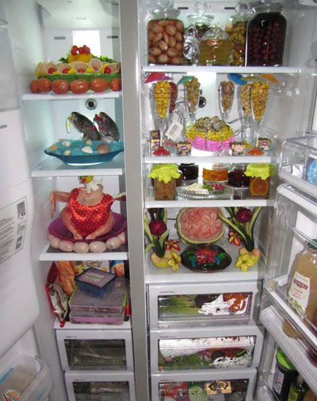 تزیین یخچال عروس,نحوه تزیین یخچال عروس