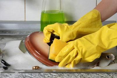 نکاتی برای ظرف شستن,تکنیک های ظرف شستن