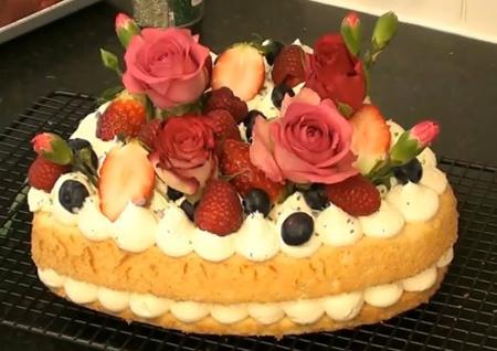 روش تزیین کیک ساده,تزیین کیک با خامه