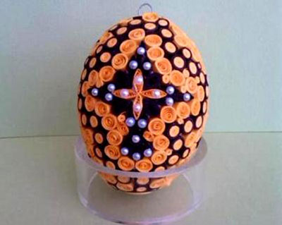 تزیین تخم مرغ هفت سین,تزیین تخم مرغ با کاغذ
