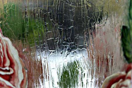 آموزش دکوپاژ روی شیشه,پتینه نما و ترک روی شیشه