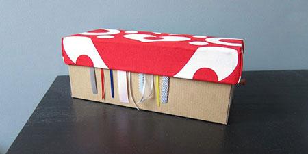 کاردستی, تزئین جعبه های کفش, آموزش درست کردن جعبه,آموزش درست کردن جای روبان, طرز تهیه جعبه کادو, آموزش تصویری ساخت جعبه خیاطی, ساخت جعبه خیاطی, ساخت کاردستی با جعبه کفش