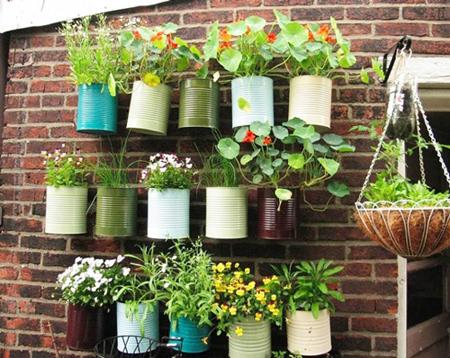ساخت گلدان با بازیافتی ها,درست کردن گلدان