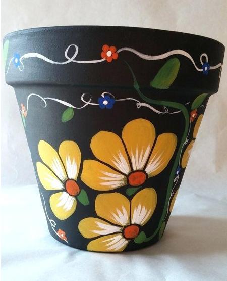 تزیین گلدان,ایده هایی برای تزیین گلدان