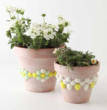 تزیین گلدان بچه ها,نقاشی بچه گانه روی گلدان