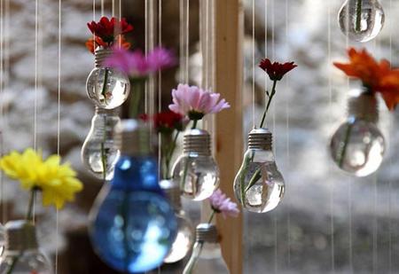 ایده هایی برای استفاده دوباره از لامپ ها,کاربردهای لامپ های سوخته