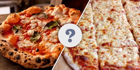 تفاوت پیتزا ایتالیایی و آمریکایی,پیتزا ایتالیایی