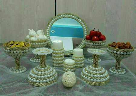 تزیین ظروف هفت سین,ظروف هفت سین جواهر نما