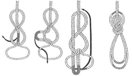 شیوه گره زدن طناب,آموزش گره زدن