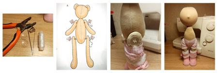 ساخت عروسک روسی به صورت تصویری,آموزش ساخت عروسک روسی