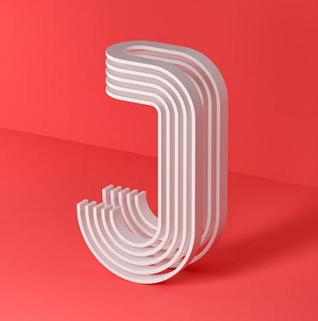 مدل های طراحی حرف J, تصاویر طراحی حروف J