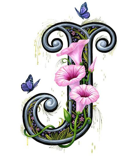 تصاویر حرف J, کارت پستال حرف J