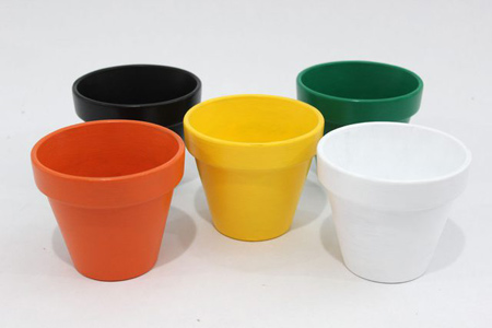 طرح های رنگی تزیین گلدان, آموزش مرحله ای تزیین گلدان رنگی