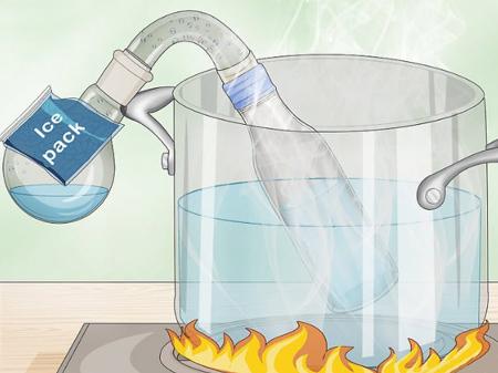 تهیه آب مقطر در خانه, تهیه آب مقطر خانگی