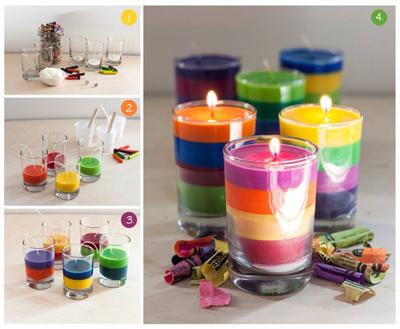 ساخت شمع های رنگی, ساخت شمع های تزئینی