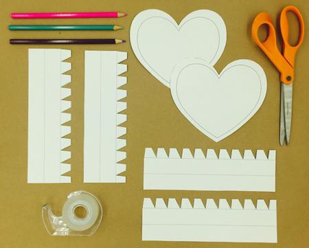 آموزش ساخت باکس هدیه, ساخت باکس هدیه به شکل قلب