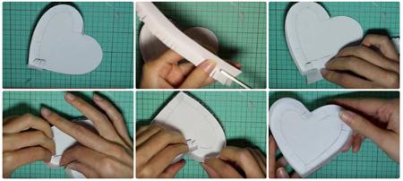 ساخت باکس هدیه به شکل قلب, مدل باکس های قلبی