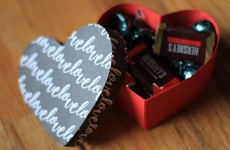 باکس هدایای قلبی, باکس هدیه به شکل قلب