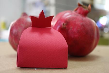 جعبه کادو به شکل انار, ساخت جعبه کادو به شکل انار