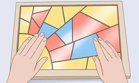 درست کردن مرحله ای پنجره های رنگی,آموزش ساخت پنجره های رنگی