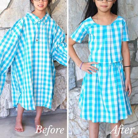 تبدیل مانتو کهنه به نو,تغییر لباس های قدیمی