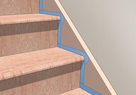 مراحل رنگ آمیزی پله و نرده, آموزش مرحله ای رنگ کردن پله ها