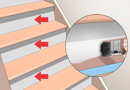 تغییر دادن پله ها,روش رنگ آمیزی پله ها