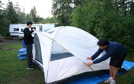 آموزش بستن چادر مسافرتی,طریقه بستن چادر مسافرتی