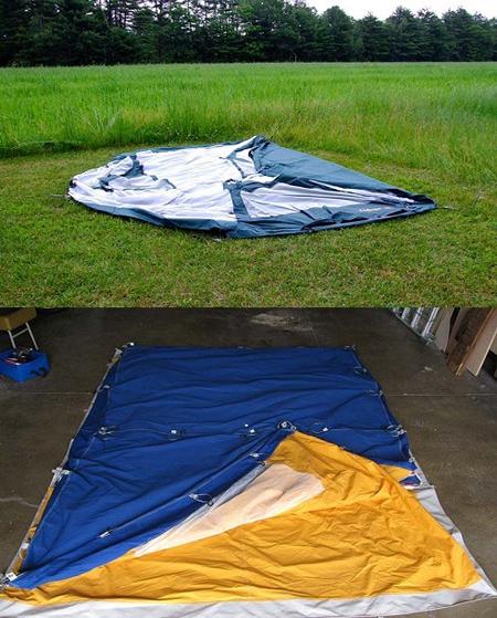 نحوه جمع کردن چادر مسافرتی, طرز جمع کردن چادر مسافرتی