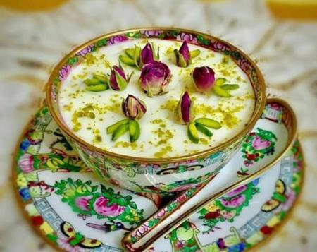 تزيين فرني با گل محمدي,ايده هايي براي تزيين فرني