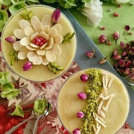 تزیین فرنی با گل محمدی, ایده هایی برای تزیین فرنی با گل محمدی