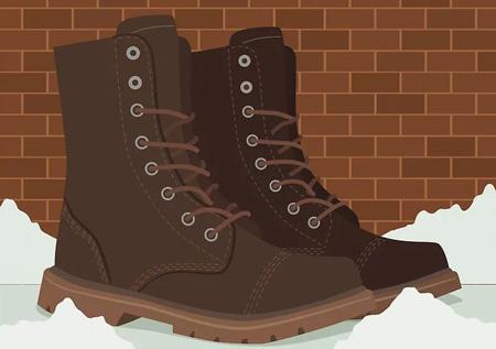 روش های جلوگیری از سر خوردن روی برف,کفش های مناسب برای راه رفتن روی برف