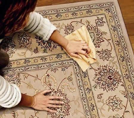 پاک کردن لکه روغن,پاک کردن لکه روغن از روي فرش